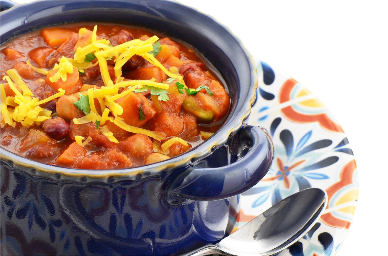 Sweet Potato Chili in soup dish